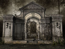 Cappella del cimitero royalty illustrazione gratis