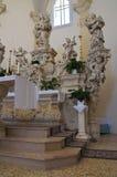 Cappella del della Palma di Madonna. Palmariggi. La Puglia. L'Italia. Immagine Stock