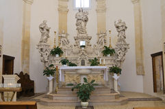 Cappella del della Palma di Madonna. Palmariggi. La Puglia. L'Italia. Immagini Stock
