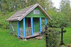 Cappella del villaggio, Podmotsa, Estonia fotografia stock libera da diritti