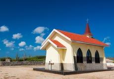 Cappella del Vista del negativo per la stampa di cartamoneta, Aruba Fotografia Stock