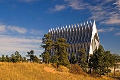 Cappella dell'accademia di aeronautica di Stati Uniti Fotografia Stock Libera da Diritti