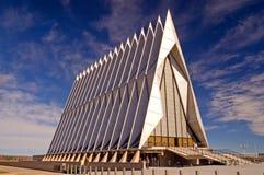 Cappella dell'accademia di aeronautica di Stati Uniti Fotografia Stock