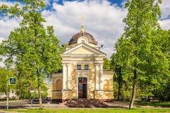 Cappella dell'icona di Tichvin della nostra signora Kronštadt, Russia Immagini Stock