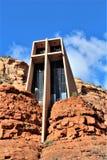 Cappella dell'incrocio santo, Sedona, Arizona, Stati Uniti immagine stock