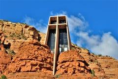 Cappella dell'incrocio santo, Sedona, Arizona, Stati Uniti fotografia stock