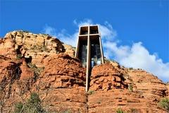 Cappella dell'incrocio santo, Sedona, Arizona, Stati Uniti fotografie stock