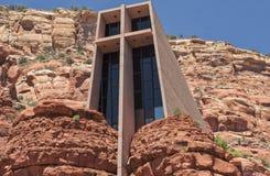 Cappella dell'incrocio santo in Sedona, U.S.A. Fotografie Stock Libere da Diritti