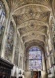 Cappella dell'istituto universitario del re, Cambridge, Inghilterra Fotografia Stock Libera da Diritti