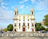 Cappella della chiesa di Carmo delle ossa a regione di Faro, Algarve, Portogallo Immagini Stock Libere da Diritti