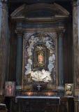 Cappella della Madonna della Cupa altar by Zenobio del Rosso in 1762. Pictured is the Cappella della Madonna della Cupa altar created by Zenobio del Rosso in Stock Image