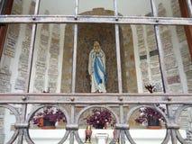 Cappella della nostra signora di Lourdes - Maria Radna Franciscan Monastery - Lipova, Arad, Romania immagini stock libere da diritti