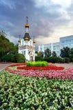 Cappella della st Catherine nella tempesta a Ekaterinburg Fotografia Stock