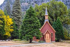 Cappella della valle di Yosemite, parco nazionale di Yosemite, California, U.S.A. Fotografia Stock Libera da Diritti