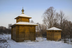 Cappella di acqua vicino alla chiesa di San Nicola Murom La Russia Fotografia Stock