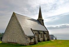 Cappella di Etretat, Francia Fotografie Stock