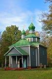 Cappella di legno antica Fotografia Stock
