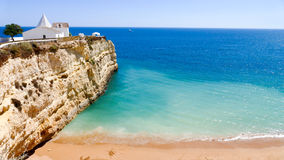 Cappella di Nossa Senhora da Rocha, Portogallo, Algarve Fotografia Stock Libera da Diritti