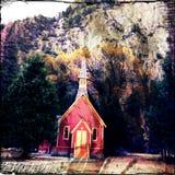 Cappella di parco nazionale di Yosemite fotografia stock libera da diritti