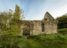Cappella di peste, collina della chiesa, Alnmouth Immagini Stock