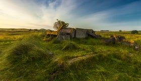 Cappella di peste, collina della chiesa, Alnmouth Fotografie Stock