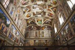 Cappella di Sistine nel Vaticano fotografia stock