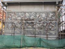 Cappella di stile cinese in tempio, Bangkok, Tailandia Fotografie Stock Libere da Diritti