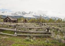 Cappella di trasfigurazione nel grande parco nazionale di Tetons Fotografie Stock