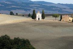 Cappella di Vitaleta arkivbild