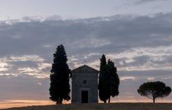 Cappella di Vitaleta Stock Photos