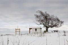 Cappella e l'albero Immagini Stock Libere da Diritti