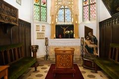 Cappella ed altare in castello Immagine Stock Libera da Diritti