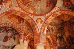 Cappella Goreme (Elmali Kilise) della roccia Fotografia Stock Libera da Diritti