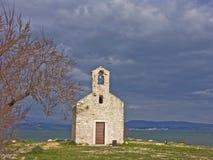 Cappella nel mare di Novigrad Fotografia Stock Libera da Diritti