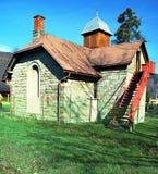 Cappella nel villaggio di Reka vicino alla città di Trinec Fotografia Stock