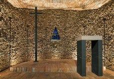 Cappella nell'ossario di Brno, repubblica Ceca Immagine Stock