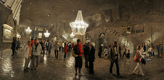 Cappella nella miniera di sale Wieliczka Immagine Stock