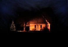Cappella nella notte Fotografie Stock