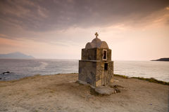 Cappella nella tempesta Immagine Stock