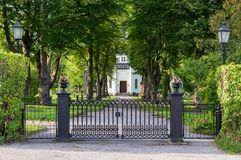 Cappella in Nora Graveyard, Svezia fotografia stock