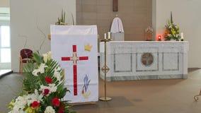 Cappella o pompe funebri religiosa per funerale immagini stock libere da diritti
