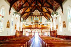 Cappella o pompe funebri religiosa per funerale fotografie stock libere da diritti