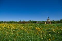 Cappella ortodossa di legno Fotografia Stock