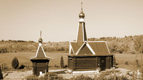 Cappella ortodossa russa tipica Fotografia Stock