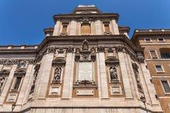 Cappella Paolina Facade con le iscrizioni latine Santa Maria Maggiore, dettaglio immagini stock libere da diritti