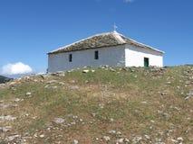 Cappella romantica della Grecia in Thassos fotografia stock libera da diritti