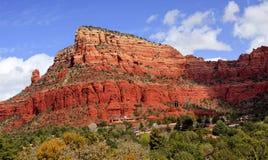 Cappella rossa Sedona Arizona del canyon della roccia Immagini Stock Libere da Diritti