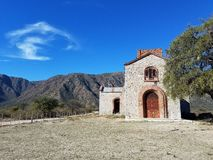 Cappella rurale in Argentina Fotografia Stock