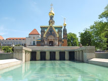 Cappella russa a Darmstadt Fotografia Stock Libera da Diritti