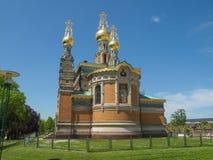 Cappella russa a Darmstadt Immagine Stock Libera da Diritti